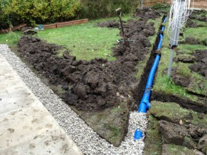 example garden drainage - Garden Drainage