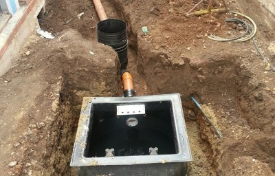 Drainage Tight Space